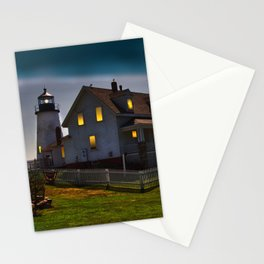The Lights are on at Pemaquid Stationery Cards