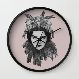 Dame Vogel Schädel Wall Clock