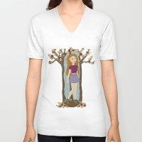 lydia martin V-neck T-shirts featuring Autumn Lydia by tashaliz