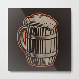 Beer barrel Metal Print