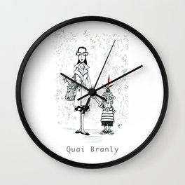 A Few Parisians by David Cessac: Quai Branly Wall Clock