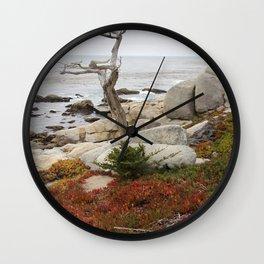 Dead Cypress At Pebble Beach Wall Clock