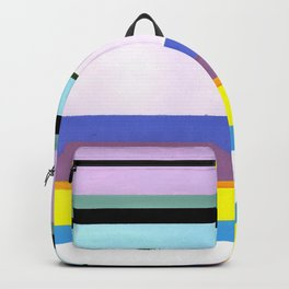 Stripes - Inspired by Light of Iris by Georgia O'Keeffe Backpack