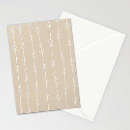 Arrow Pattern: Beige Stationery Cards