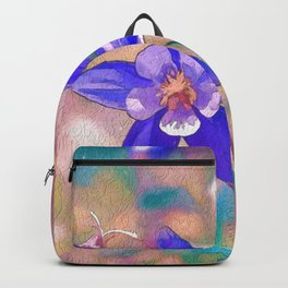 Colorado Columbine Flower Backpack