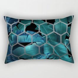 tropical banana leaves geometry 2 Rectangular Pillow