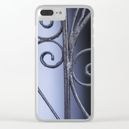 Charleston Blue Wrought Iron Clear iPhone Case