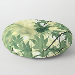 Green Japanese Maple Floor Pillow