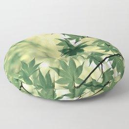 Green Japanese Maple Floor Pillow