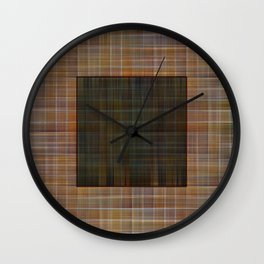 Patched plaid tiles pattern Wall Clock