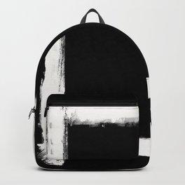 Square Strokes White on Black Backpack