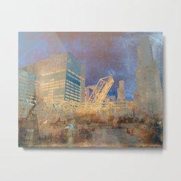 Drawbridge Chicago River City Skyline Metal Print