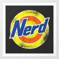 nerd Art Prints featuring Nerd by Yanmos