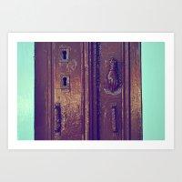 door Art Prints featuring door by gzm_guvenc