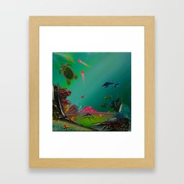 At the tropical paradise Framed Art Print