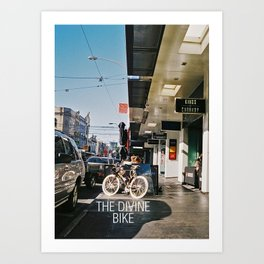 The Divine Bike (Chapel Street, 2013) Art Print