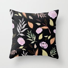 Simple and stylized flowers 20 Throw Pillow