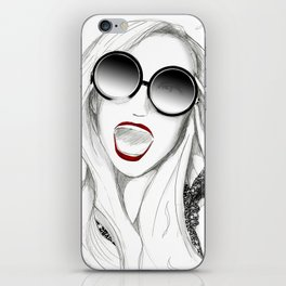 New Year's Party Girl iPhone Skin