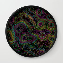Abstract topographic style background Wall Clock