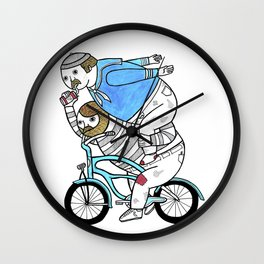 On how bicycle riders utilize team work in certain situations. Wall Clock