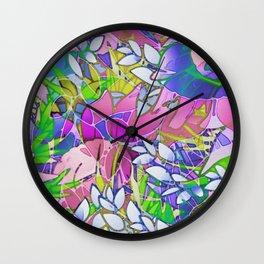 Floral Abstract Artwork G545 Wall Clock