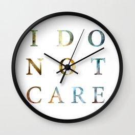 i don't care Wall Clock
