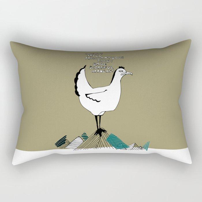Cocky Cock Rectangular Pillow