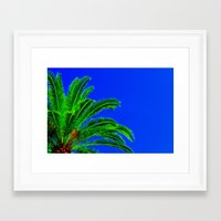 palm tree Framed Art Prints featuring Palm Tree by Phil Smyth