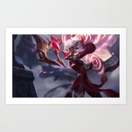 Conqueror Karma League Of Legnds Art Print