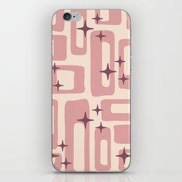 Retro Mid Century Modern Abstract Pattern 577 Dusty Rose iPhone Skin