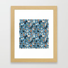 Hound District blue Framed Art Print