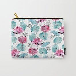 Waterlily buds Carry-All Pouch