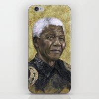 mandela iPhone & iPod Skins featuring Mandela by Sara Golish