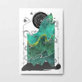 Northern Nightsky Metal Print