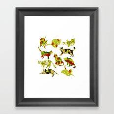 Kitchen Cats Framed Art Print