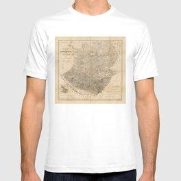 Vintage Map of Guatemala (1859) T-shirt