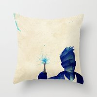 david tennant Throw Pillows featuring Doctor Who 10th Doctor David Tennant by Art by Colin