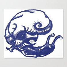 Slug skull Canvas Print
