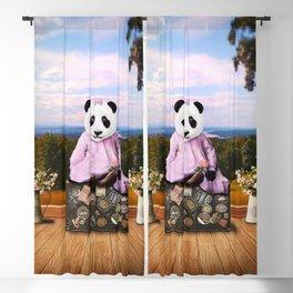 Baby Panda on Vacation Blackout Curtain