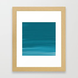 Turquoise Acrylic Framed Art Print