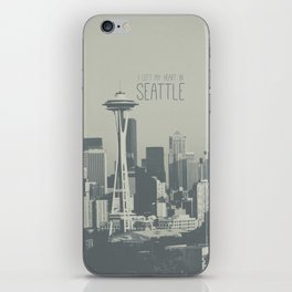 I LEFT MY HEART IN SEATTLE iPhone Skin