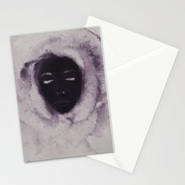 Purple Flower Lady Stationery Cards