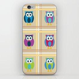 Plaid Owls iPhone Skin