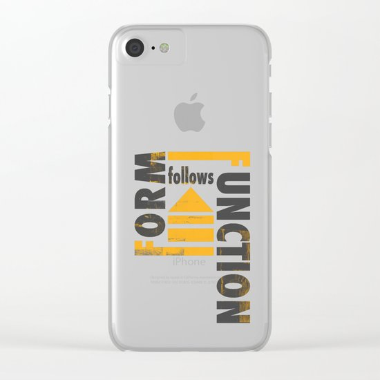 Forming the Quote Clear iPhone Case
