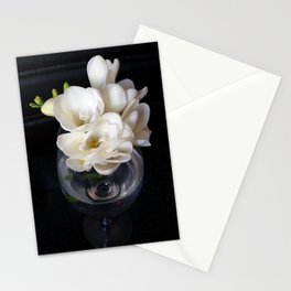 freesia night cup Stationery Cards