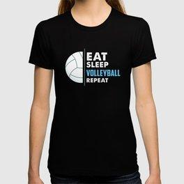 Eat Sleep Volleyball Sport Team Design T-shirt