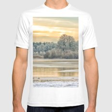 Walk on the winter lake Mens Fitted Tee MEDIUM White