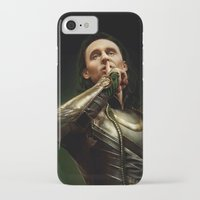 loki iPhone & iPod Cases featuring Loki by Arkarti