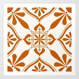 Terracotta Talavera Tile Art Print