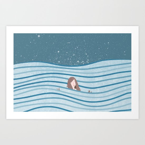 Night Swimming Art Print